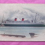 Vintage Picture Mounted on Board of TSS AWATEA