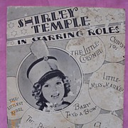 "Vintage 1934 Shirley Temple Book ""In Starring Roles"""