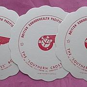 Set of 3 Vintage BCPA Airline Drinks Coasters