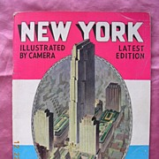 Vintage 1937 NEW YORK Illustrated Book