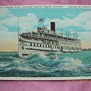 "Vintage Postcard ""Rapids King"" Shooting Lachine Rapids Montreal"