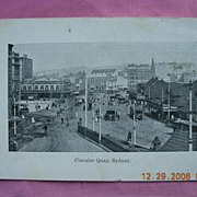 "Vintage Postcard ""Circular Quay, Sydney"" Circa 1910-1915"