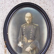 Hand Coloured Photograph of The Hon Colonel C.W. PARK, ADC to King Edward V11