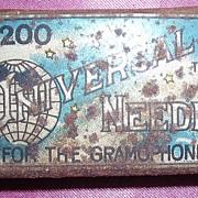 Vintage UNIVERSAL Gramophone Needles Tin