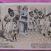 Rare Vintage Negro Racist ARM & HAMMER SODA Paper Tradecard