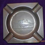 Vintage Mauritania Souvenir Shipping Ashtray CUNARD LINE