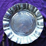 1937 Coronation King George V1' Commemorative Chromed Plate'