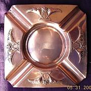 VICTORIANA Art Nouveau German WMF Copper Ashtray