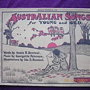 "Victorian Sheet Music ""Australian Songs For Young & Old"""