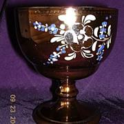 Victorian 'Copper Glass' Goblet
