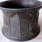 Old Chicago Bronze Napkin Ring Souvenir Circa 1900