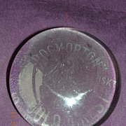 Vintage Throgmorton Whisky Advertising Paper Weight
