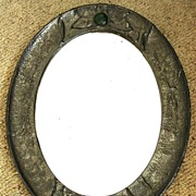 Victorian Arts & Crafts Pewter Mirror Circa 1890 - 1900