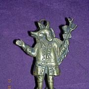 English 'Trusty Servant' Brass Door Knocker Circa 1910