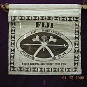 Vintage Fiji Barbarians Rugby Tour 1986 Tapa Souvenir