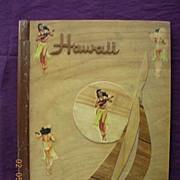 HAWAIIAN Vintage Wooden Photograph Albumn Cover Circa 1940's