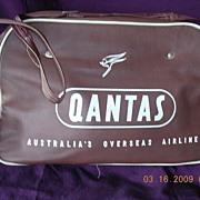 "Vintage Qantas ""Australia's Oversea Airline"" Cabin Bag"