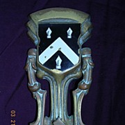 Victorian Crested Brass Door Knocker