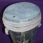 Papua New Guinea Vintage Ceremonial Kundu Drum