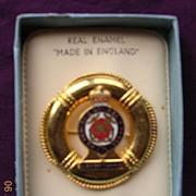 SOLD H.M.Y. Britannia Enamel on Metal Souvenir Badge
