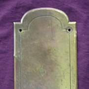 A Single Heavy Quality Victorian Door Brass Push Plate