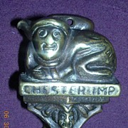 1909 CHESTER IMP Brass Door Knocker