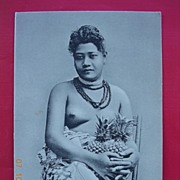 "Vintage Nude Postcard ""A Native Belle - Samoa"""