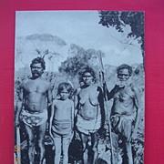 "Old B.S. Brand English Photo - Print Postcard  ""Australian Aborigines"""