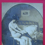"1911 Russian Nude Postcard ""Salonde Paris"""