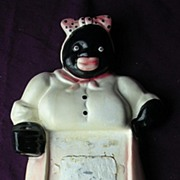Vintage Black Mama Plaster Note Pad Holder