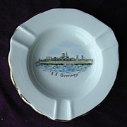 Vintage Shipping Souvenir Ashtray S.S. ORONSAY Circa 1960