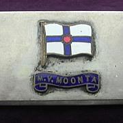 SOLD Adelaide Steamship Co 'M.V. MOONTA' Souvenir Napkin Ring