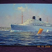 Royal Rotterdam Lloyd 'Willem Ruys' Vintage Postcard