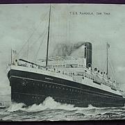 McIlwraith, McEacharn & C 'T.S.S. Karoola' Vintage Souvenir Postcard