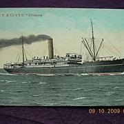 Hudart Parker & Co 'S.S.Ulimaroa' Vintage Souvenir Postcard