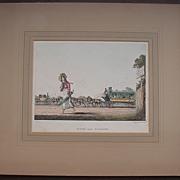 Georgian Engraving 'Scene Near Glasgow' Circa 1825