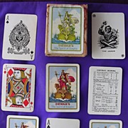 SOLD Very Old 'DEWARS Whisky' Advertising Contract Bridge Playing Cards