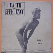 Vintage 1949 'Health & Efficiency'  English Nudist Magazine
