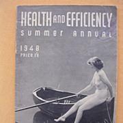 """Vintage 1948 """" Health & Efficiency' English Nudist Magazine"""
