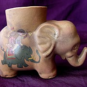 Old Elephant 'Black Americana' Egg Cup