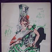 S.S. DORIC - White Star Line - Menu 1933