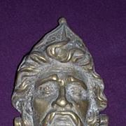 Old Brass 'Christopher Columbus' Door Knocker