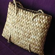 Vintage Pacific Islands Woven Flax KETE or Handbag