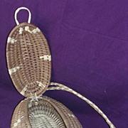 Pacific Islands Woven Flax Tub Style Kete, Handbag or Purse