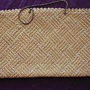 Very Fine Woven Flax Kete or Handbag of New Zealand Maori Origin