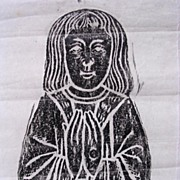 Vintage Brass Rubbing Of A Child Interred In The Church At Littlebury - Essex