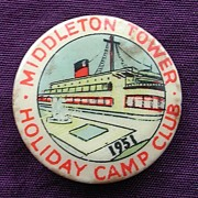 A 1951 Tin Camp Badge From 'The MIDDLETON TOWER' Holiday Camp