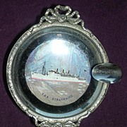 T.S.S Strathaird  - Orient Line -Butterfly Wings Souvenir Ashtray