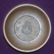 H.M.S. Ark Royal Small Copper Souvenir Dish