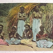 RARE Vintage FIJI 'Native Belles' Postcard Circa Early 1900's